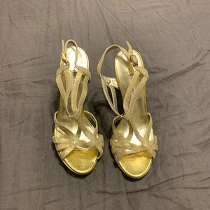 Gold heels that I wore to prom